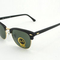 Ray ban Clubmaster RB3016 Sunglasses Black New In Box