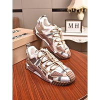 DOLCE&GABBANA Men Fashion Boots fashionable Casual leather Breathable Sneakers Running Shoes-16