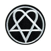 HIM Heartagram Patch Iron on Applique Gloom Metal
