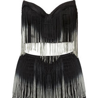Ombre Fringe Bralet and Knickers - Lingerie & Sleepwear  - Clothing  - Topshop USA