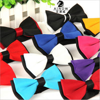 1 piece fashion brand bow tie polyester silk butterfly adjustable wedding bowtie bow ties for men 13 colors