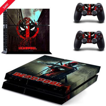 DEADPOOL PS4 SKIN STICKER - LIMITED EDITION!
