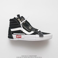 Off-White x Vans Vault Sk8-Hi Black White Sneakers