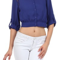 Cropped button down top - New arrivals