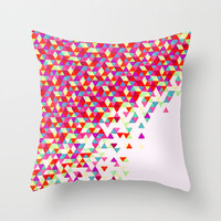 Colorful Throw Pillow - Red Funfetti