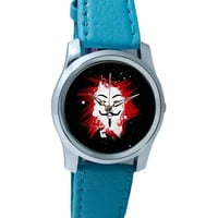 V For Vendetta Inspired Anonymous Wrist Watch