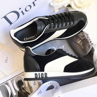 Dior DIORUN SNEAKER IN VELVET AND CALFSKIN LEATHER