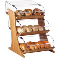 15Wx24Dx24.25H 3 Tier Rounded Display Bamboo