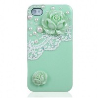 Pearl and Lace Flower IPhone 4/4S Case