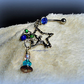 Fairy Star Belly Ring, Fantasy, Beach Wear, Hipster, Ready to Ship, Direct checkout