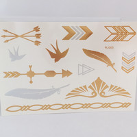 Deserted Gold & Silver Tattoo Sheet