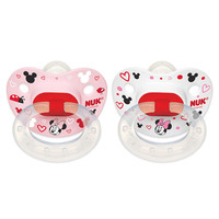 NUK Disney Orthodontic 0 - 6 Months Silicone Pacifier 2 Pack - Minnie Mouse