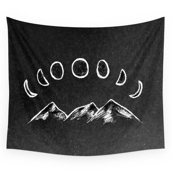 Society6 Mountain Moon Wall Tapestry