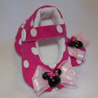 Minnie Mouse Baby Girl Mary Janes