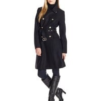 Vince Camuto Women's Double-Breasted Wool-Blend Trench Coat
