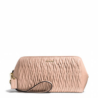 MADISON LARGE WRISTLET IN GATHERED TWIST LEATHER