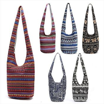 Hobo Bags Elephant Print Mexican Blanket Tribal Aztec 6 Different Styles And Colors You Choose Large Hippie Shoulder Purses Boho Carry On Tote Travel Bag