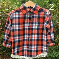 Baby Girl Flannel, Baby Flannel w/Lace, Plaid Shirt, Fall Flannel, Flannel Shirt, Flower Girl Flannel, Pageant/Dance Coverup, 24mths Flannel
