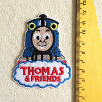 Cute iron on cloth patches cartoon thomas train