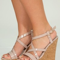 Wall Street Wedges: Mauve - Shoes