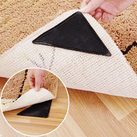 2016 Newest 4pcs/set Rug Carpet Mat Grippers Non Slip Anti Skid Reusable Silicone Grip Pads New Bathroom Accessaries