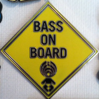 Bassnectar bass on board hat pin