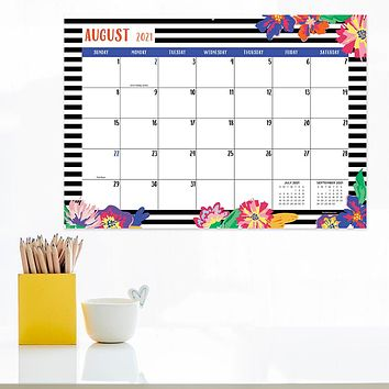 July 2021-June 2022 Bloom & Blossom Mini Desk Pad Monthly Blotter Calendar