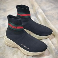 Balenciaga X Gucci Rhyton Vintage Knit Mid Bbd34769 Socks Shoes - Best Online Sale