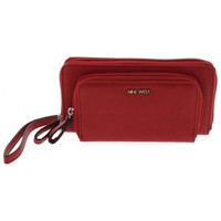 Nine West Womens Table Treasures Faux Leather Zip Around Clutch Wallet