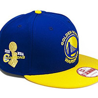 Golden State Warriors Royal/Gold 2015 NBA Finals Champions New Era 9FIFTY Adjustable Snapback Hat / Cap