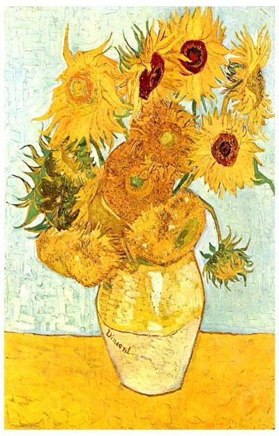 Image of Vincent Van Gogh Sunflowers Poster 11x17
