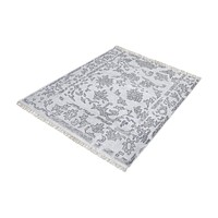 Harappa Hand-knotted Wool Rug in Grey