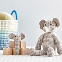 Elephant Knit Plush & Rattle