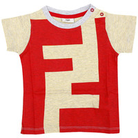 Baby Boys Red & Yellow 'FF' Logo T-shirt