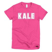 """""""Kale"""" Short sleeve women's t-shirt - pink and other bright colors"""