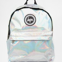 Hype Holographic Backpack at asos.com