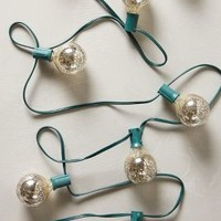 Mercury Glass Bulb Lights by Anthropologie Silver One Size Lighting