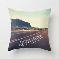 adventure Throw Pillow by Sylvia Cook Photography