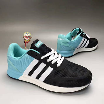 """""""Adidas NEO"""" Fashion Casual Multicolor Stripe Breathable Net Sneakers Men Running Shoes"""