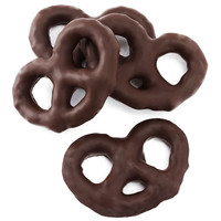 Dark Chocolate Covered Mini Pretzels: 4LB Box