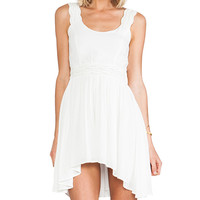bless'ed are the meek Python Dress in Ivory