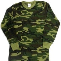 Indera - Mens Long Sleeve Camouflage Thermal Top, 812LS