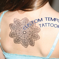 Custom Temporary Tattoo  - You Pick Design - Temporary Tattoos - Test Your Tattoo