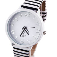 White Chic Stripe Watch
