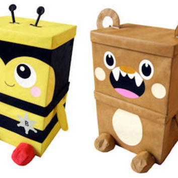 Toy Box - 2 x Animal Storage Boxes - Home Storage Systems From Store