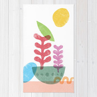Still Life with Egg & Worm Area & Throw Rug by Nick Nelson | Society6
