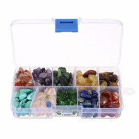 255g Ten Kinds of Stone Kit Natural with Quartz Crystals With Grid Case