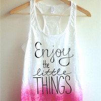 Enjoy the Little Things Tie Dye Tank Top