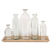 Wood Tray with 5 Glass : Target