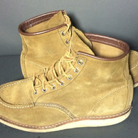 """Red Wing® 8881 Heritage Brown Leather Work Boots 6"""" Moc Men's Size 9"""